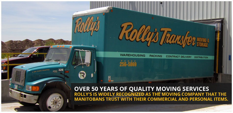 Over 50 years of quality Winnipeg moving services. Rolly's is widely recognized as the moving company that the Manitoban's trust with their commercial and personal items.